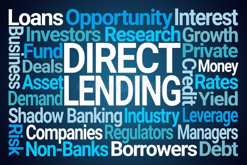 Nuvem de empréstimo direta da palavra ilustração do vetor