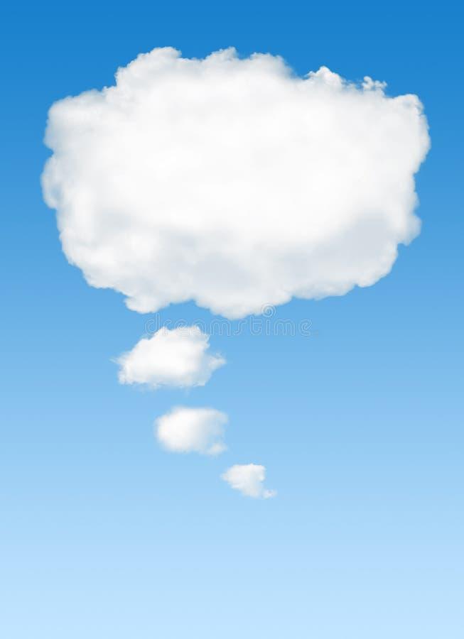 Nuvem de pensamento foto de stock