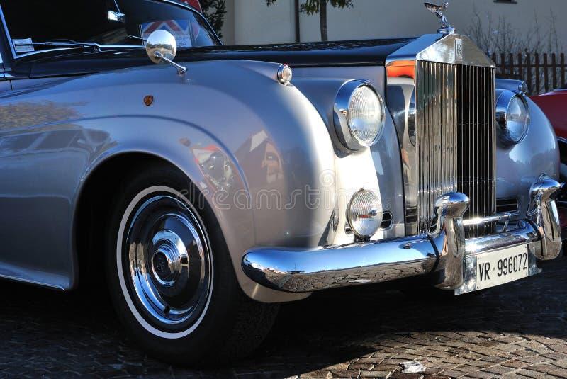 Nuvem de prata de Rolls Royce fotografia de stock