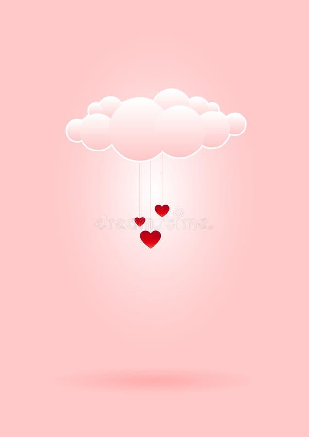 Nuvem do amor ilustração do vetor