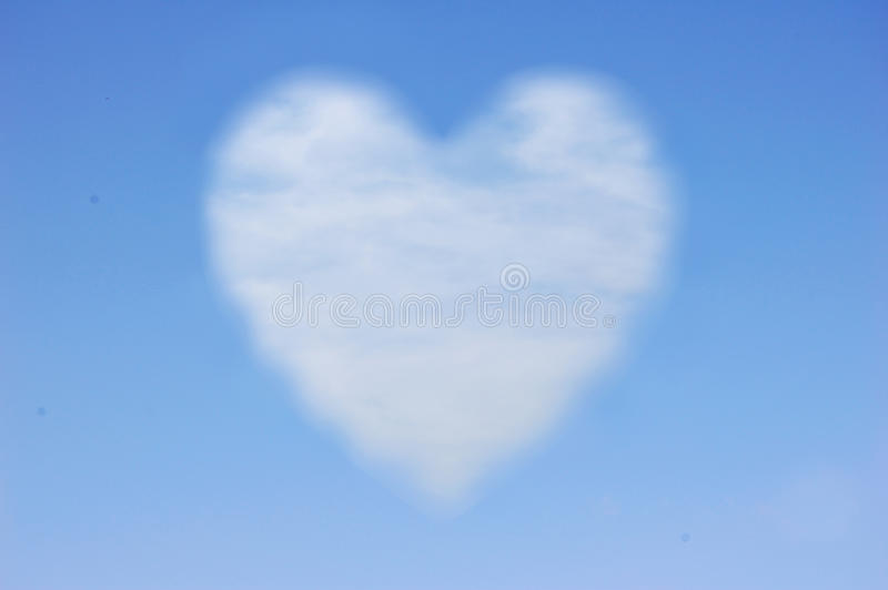 Nuvem do coração fotos de stock royalty free