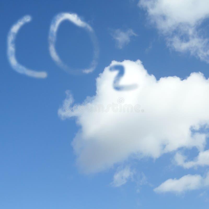 Nuvem do dióxido de carbono fotografia de stock royalty free