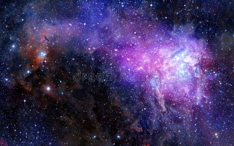 Nuvem do gás da nebulosa no espaço profundo ilustração royalty free