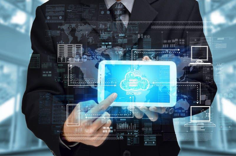 Nuvem do Internet que computa a computação conceptSecured da nuvem do Internet imagens de stock royalty free
