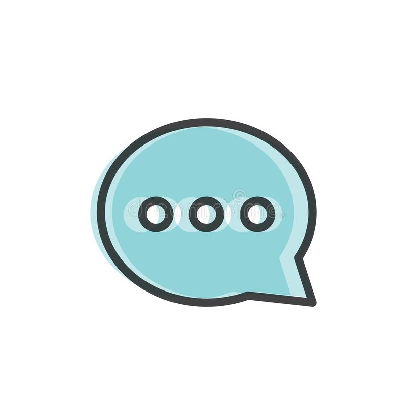 Nuvem do símbolo do bate-papo da bolha ilustração stock
