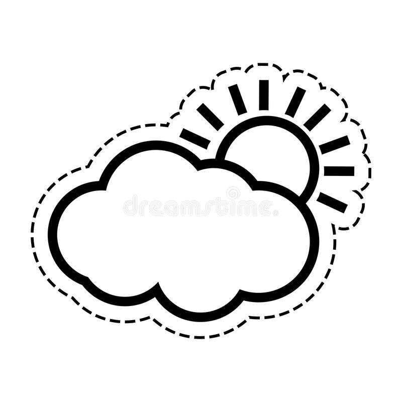 Nuvem do sol do tempo ilustração do vetor
