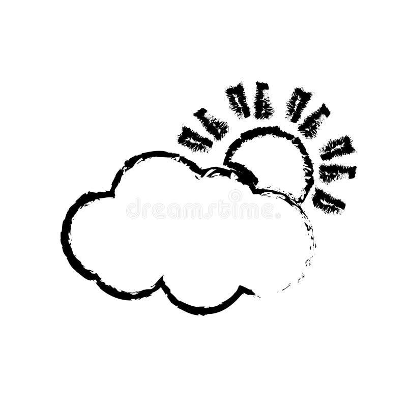 Nuvem do sol do tempo ilustração stock