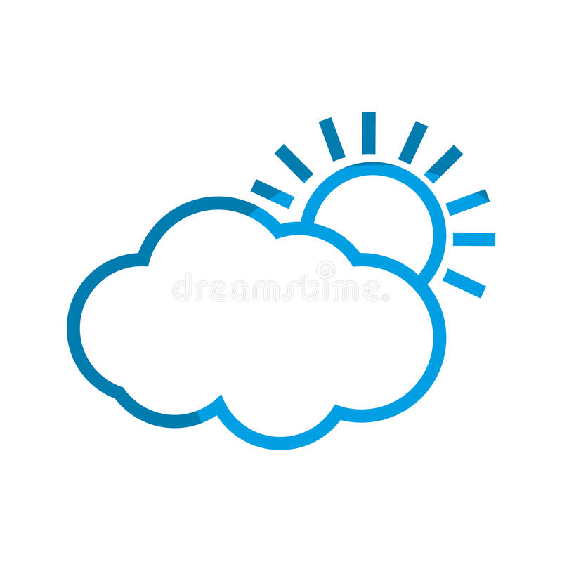 Nuvem do sol do tempo ilustração royalty free