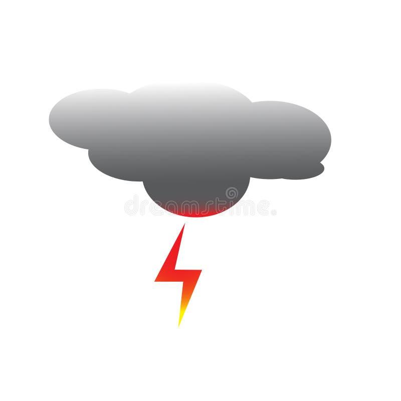 Nuvem e logotipo do poder ilustração stock