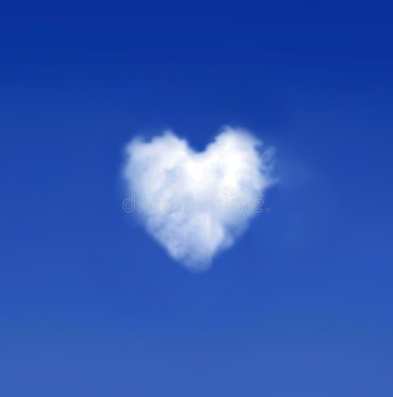 Nuvem Heartshaped imagens de stock