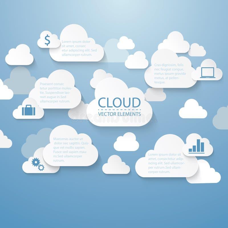 Nuvem infographic ilustração stock
