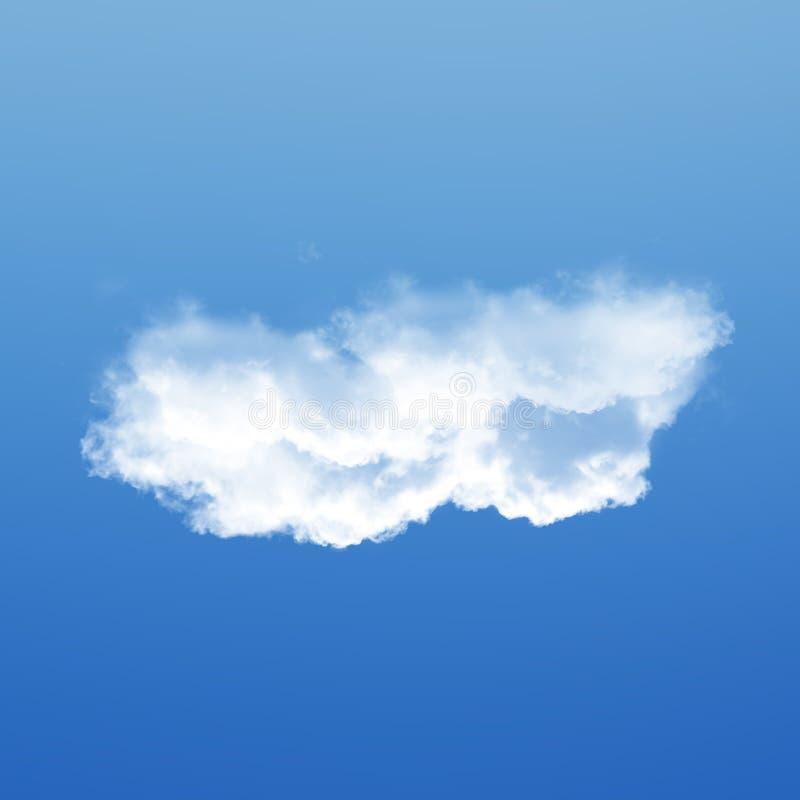 Nuvem isolada sobre a ilustração do fundo 3D do céu azul, única fotografia de stock royalty free