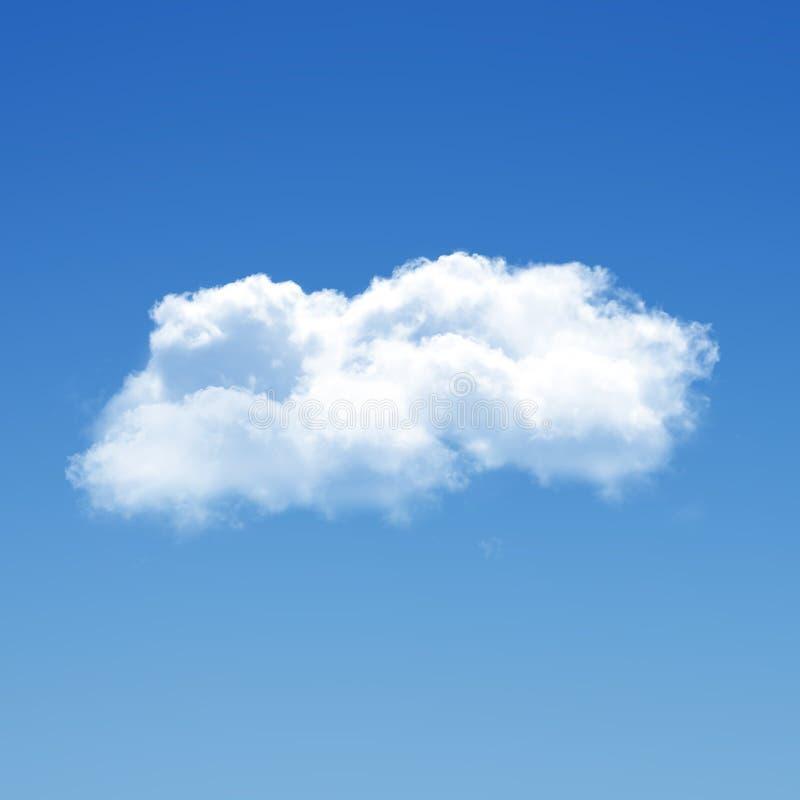 Nuvem isolada sobre a ilustração do fundo 3D do céu azul, única imagens de stock