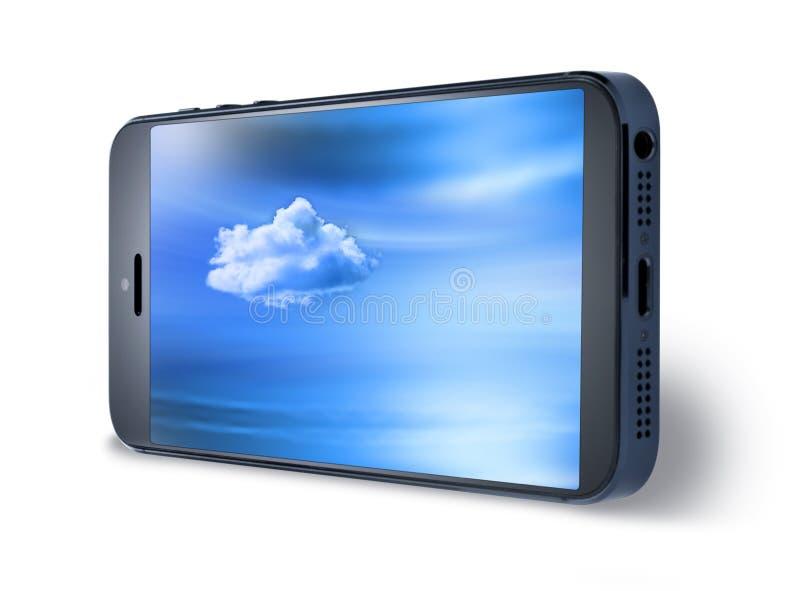 Nuvem móvel do céu do telefone celular fotos de stock royalty free