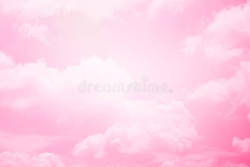 Nuvem macia da fantasia com cor pastel do inclinação fotos de stock royalty free