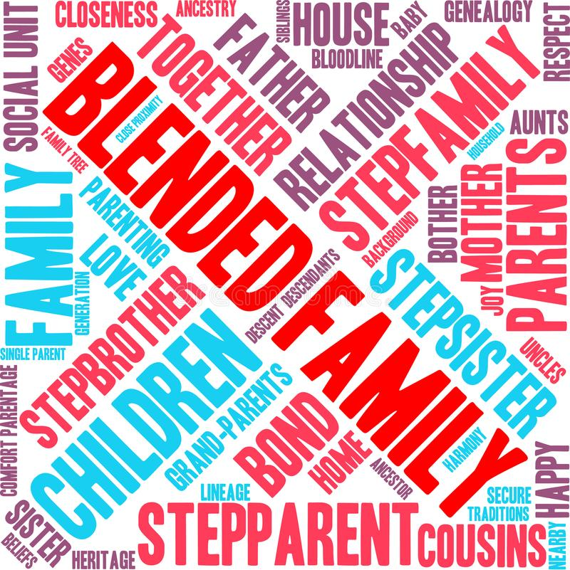 Nuvem misturada da palavra da família ilustração stock