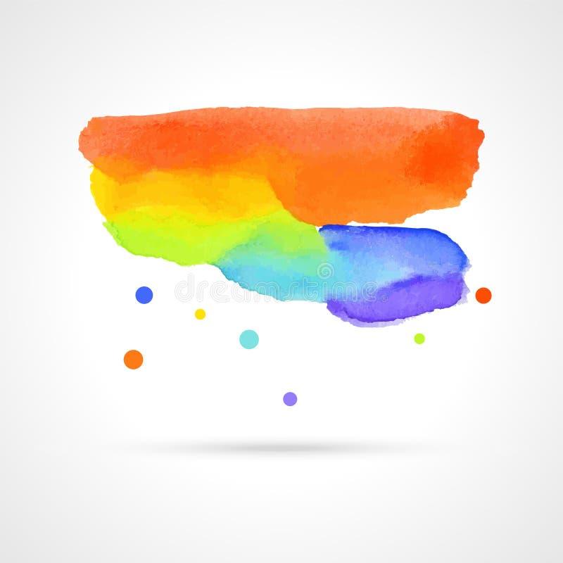 Nuvem multicolorido da aquarela ilustração do vetor