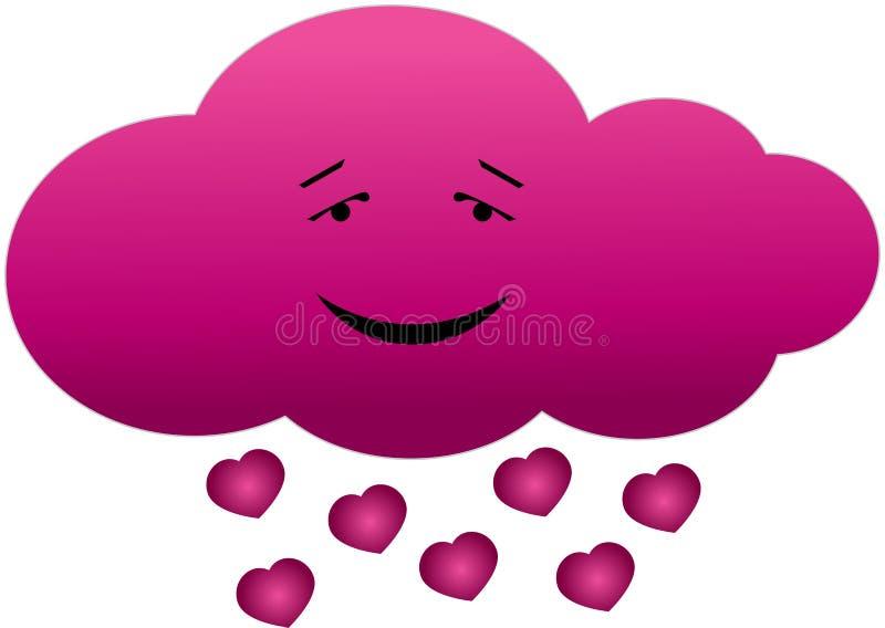Nuvem no amor ilustração do vetor