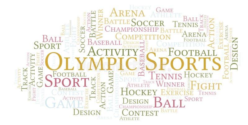 Nuvem olímpica da palavra dos esportes ilustração royalty free