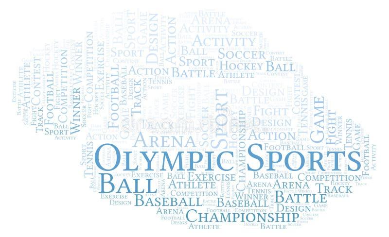 Nuvem olímpica da palavra dos esportes ilustração stock