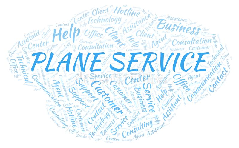 Nuvem plana da palavra de serviço ilustração do vetor