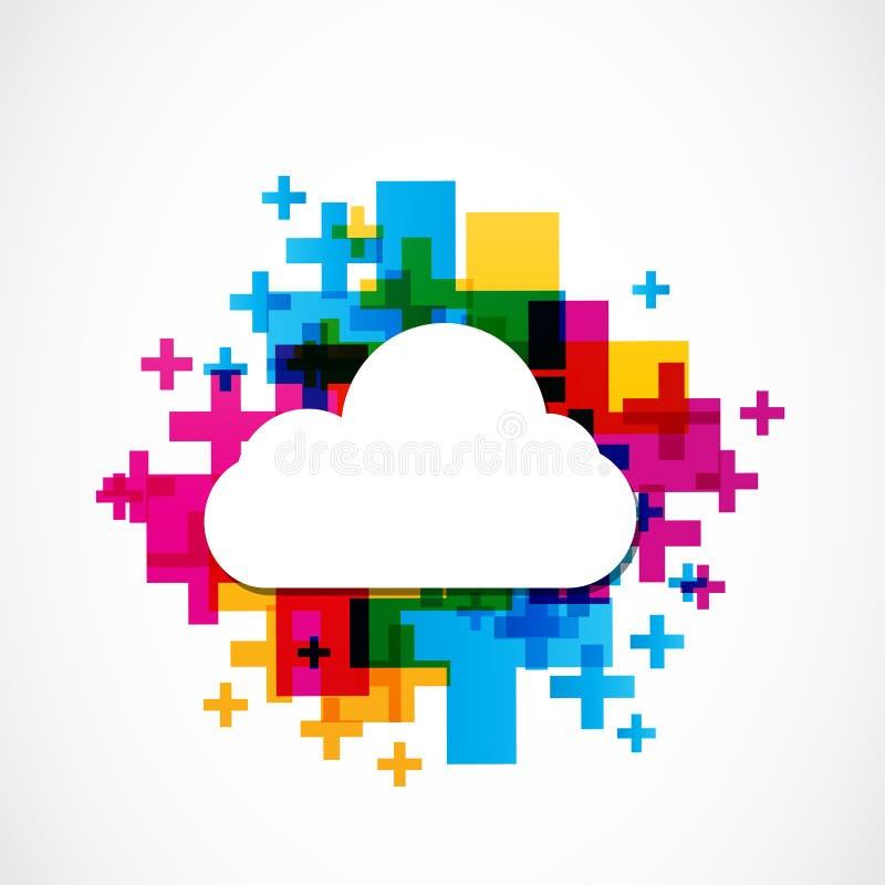 Nuvem positiva colorida abstrata ilustração do vetor