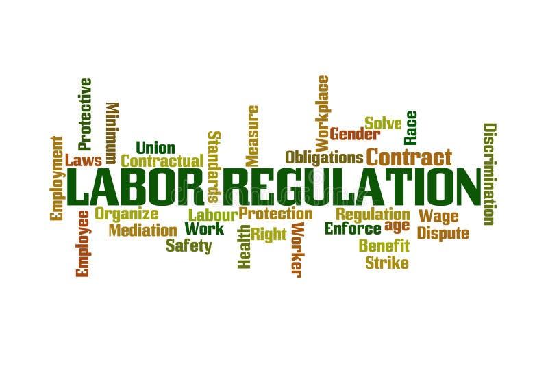 Nuvem regulamentar Labor da palavra ilustração do vetor