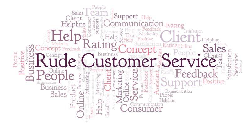 Nuvem rude da palavra de serviço ao cliente ilustração do vetor