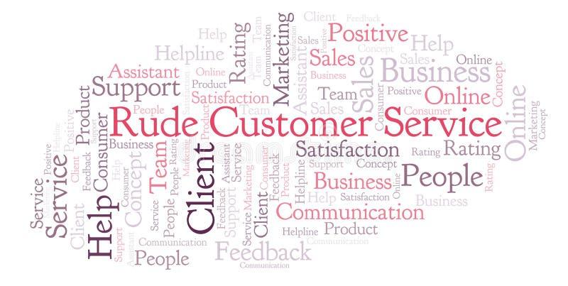 Nuvem rude da palavra de serviço ao cliente ilustração royalty free