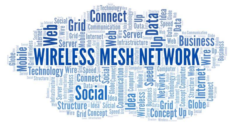 Nuvem sem fio da palavra de Mesh Network ilustração stock