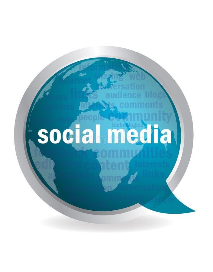 Nuvem social do discurso dos media ilustração royalty free