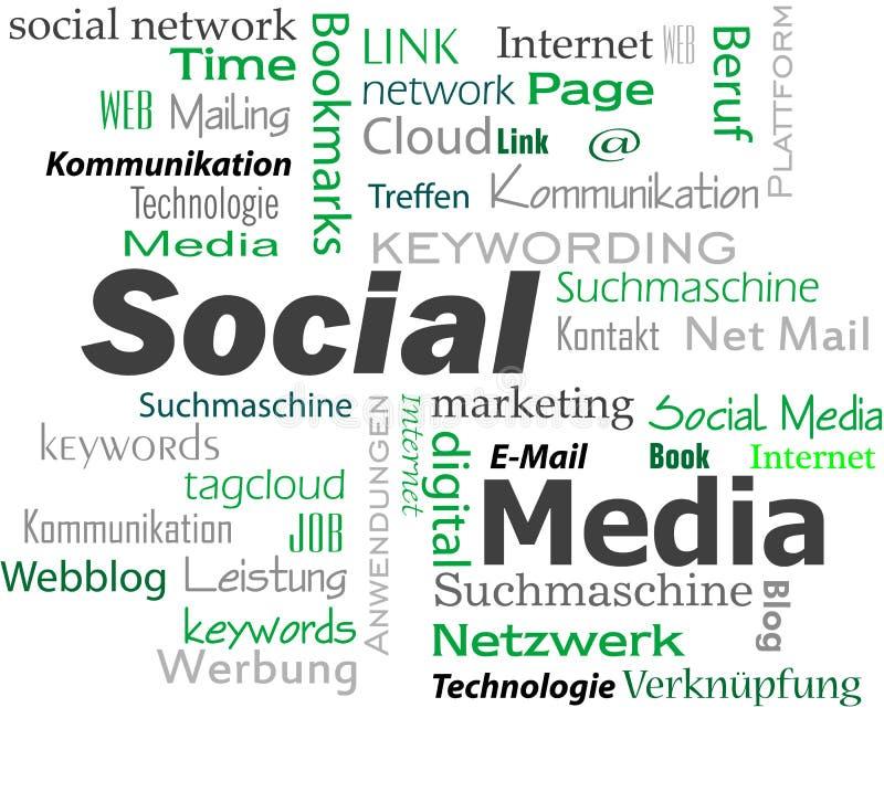 Download Nuvem social dos meios foto de stock. Imagem de conceito - 29845542