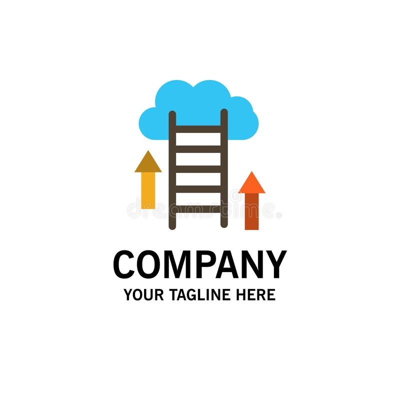 Nuvem, transferência, transferência de arquivo pela rede, dados, negócio Logo Template do servidor cor lisa ilustração royalty free