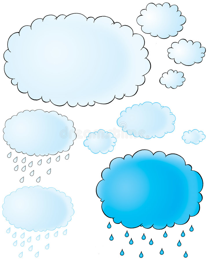 Nuvens ilustração do vetor