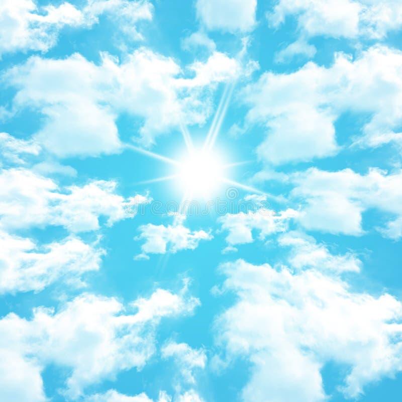 Nuvens azuis imagens de stock