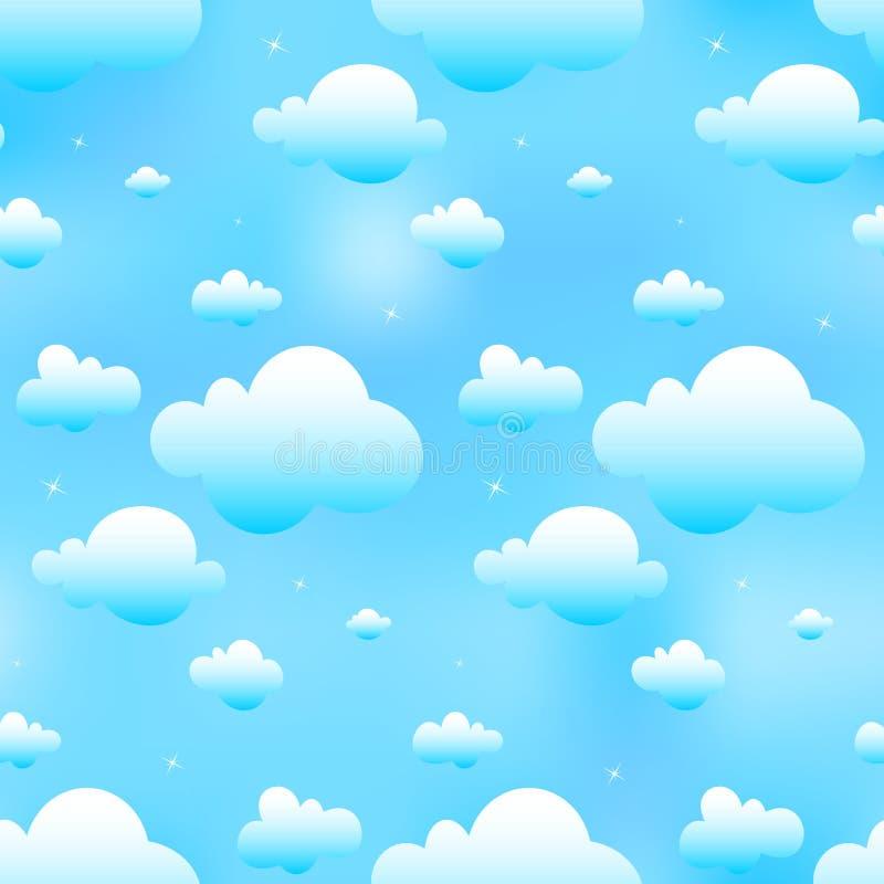 Nuvens azuis sem emenda ilustração royalty free