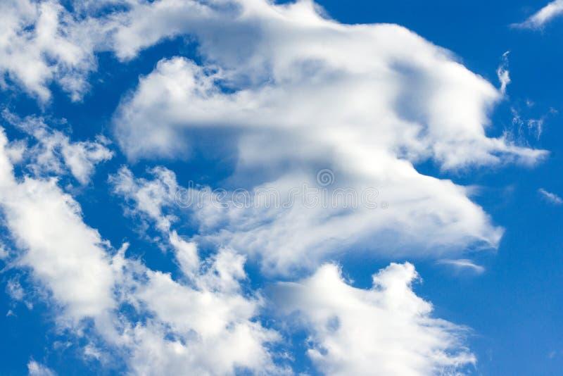 Nuvens brancas bonitas no céu azul Fundo natural de claro - nuvens do céu azul foto de stock royalty free