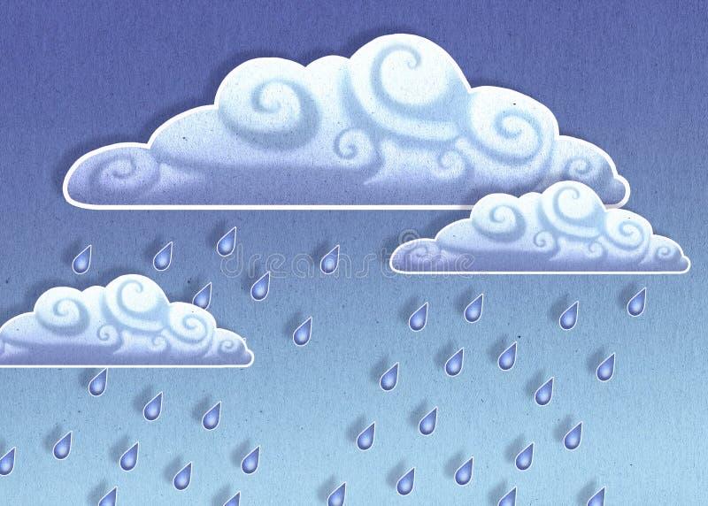Nuvens chuvosas ilustração do vetor