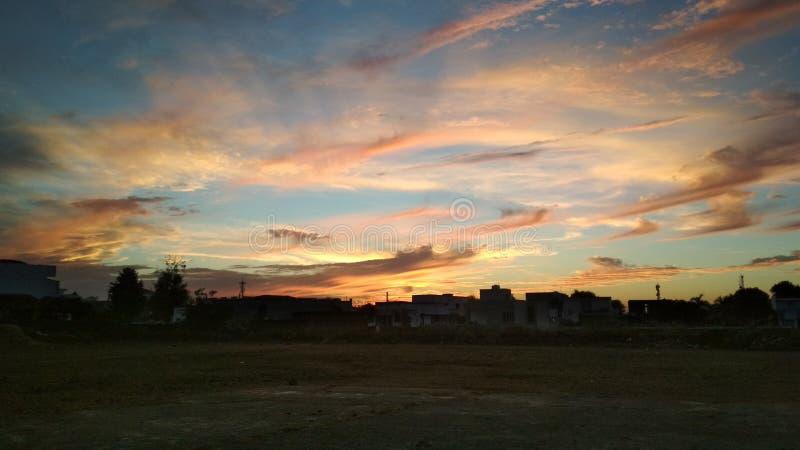 Nuvens coloridas imagem de stock