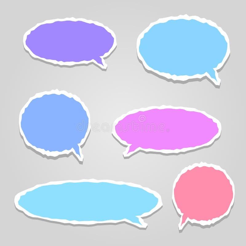 Nuvens coloridos do diálogo do vetor ilustração royalty free