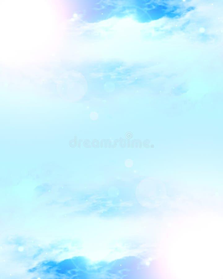 Nuvens com luz solar ilustração stock