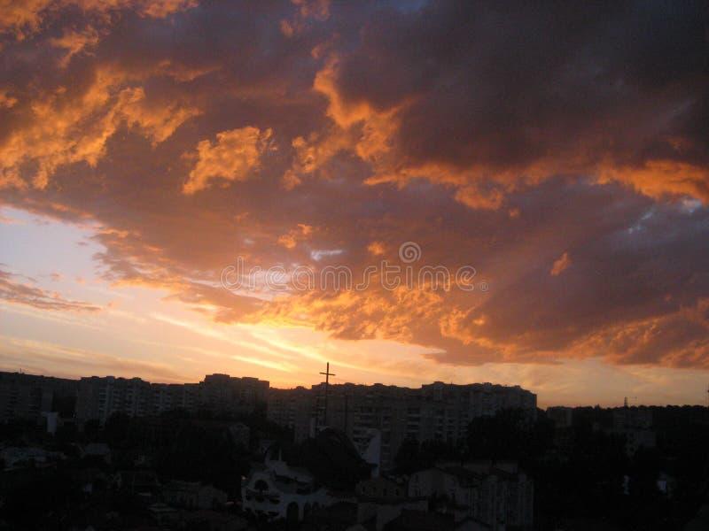 Nuvens cor-de-rosa foto de stock royalty free