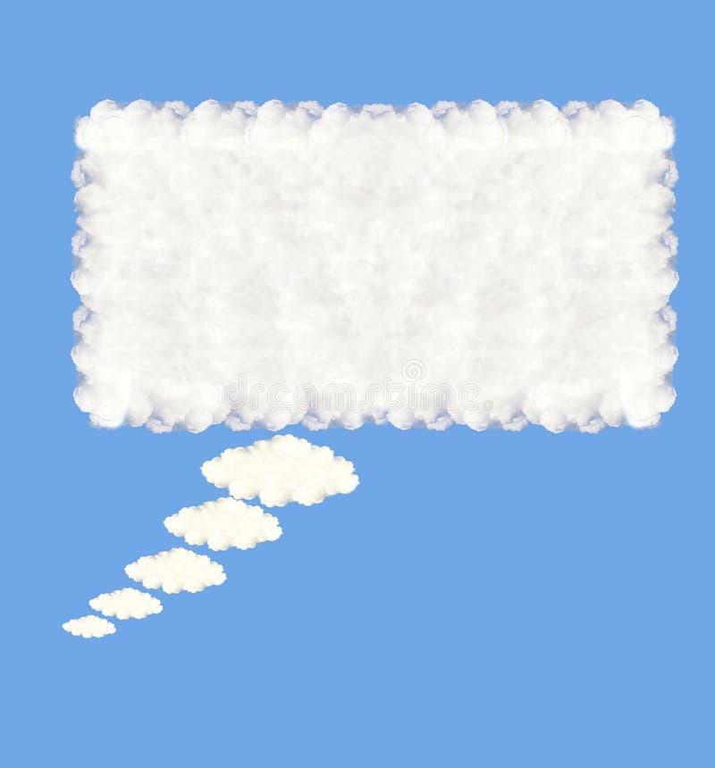 Nuvens da bolha do discurso ilustração do vetor