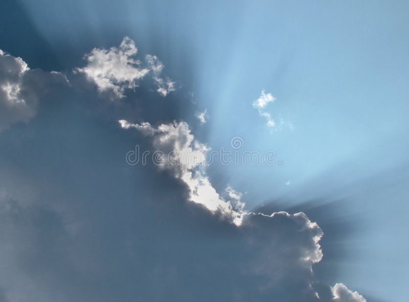 Nuvens da fé fotografia de stock