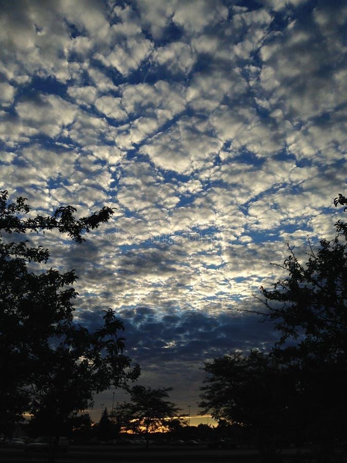 Nuvens da pipoca fotos de stock royalty free
