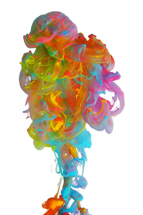 Nuvens da tinta colorida brilhante fotos de stock