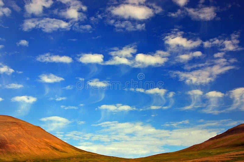 Nuvens das medusa fotografia de stock