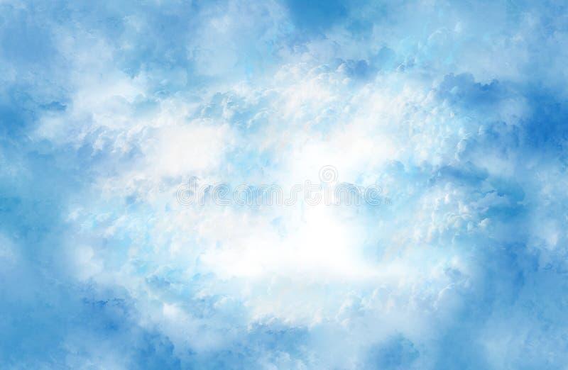 Nuvens de acalmação. imagem de stock royalty free