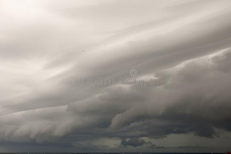 Nuvens de chuva fotografia de stock