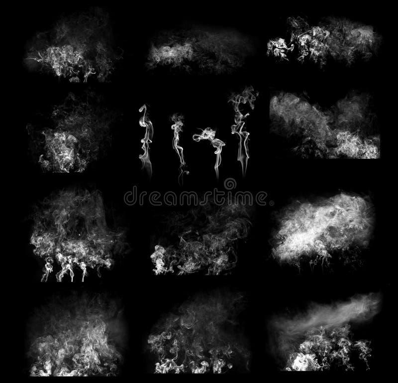 Nuvens de fumo imagem de stock